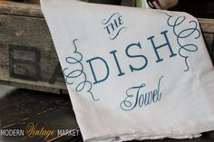 The Dish Towel flour sack kitchen towels by MODERN VINTAGE MARKET #towel #kitchen #Modern Vintage Market #hand towel #tea towel #flour sack towel #dish towels