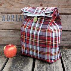 """Washable Lunch Bag (8""""wide   4""""deep 13""""tall)"""