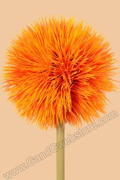 "26"" ALLIUM FLOWER ORANGE - GandGwebStore.com"