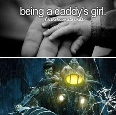 Yes. BioShock. Big Daddy and Little Sister.