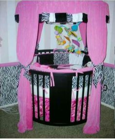 Love Circle Cribs. Not to mention...ZEBRA PRINT!