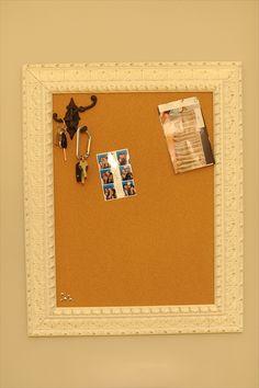 bulletin board with key hooks
