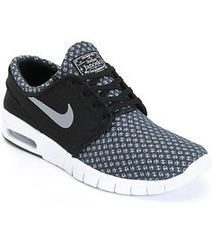 Nike SB Stefan Janoski Max Black & Cool Grey Mesh Shoes from Zumiez. Shop more products from Zumiez on Wanelo. Max Black, Black And White Shoes, Skate Shoes, Nike Shoes, Janoski Air, Stefan Janoski Max, Converse, Best Sneakers, Moda Masculina