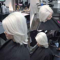 Take her blonde down a few temps to a lovely shade of platinum ice. This striking formula, courtesy of hairstylist Chipo Mulenga from Modesto, CA, iswinter wonderland chic, turning a traditional frozen blonde into a white-hot platinum blonde. Here's his chillingly, cool formula!