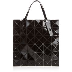Bao Bao Issey Miyake Lucent gloss tote (21.535 RUB) ❤ liked on Polyvore featuring bags, handbags, tote bags and black