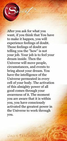 law of attraction #TheSecret
