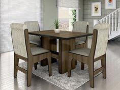 Conjunto de Mesa com 4 Cadeiras Dobuê Movelaria - Canadá de R$ 899,00 por R$ 579,90 em até 6x de R$ 96,65 sem juros. APROVEITE ESTA OPORTUNIDADE, LINDO DESGINER.