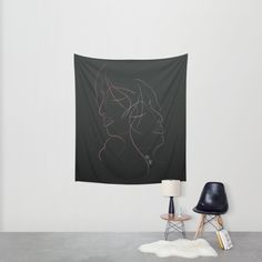 Authîel Rainbow Minimalist Wall Tapestry by weivy Presents For Friends, Travel Wall, Minimalist Decor, Stargazing, Time Travel, Wall Tapestry, Line Art, Duvet, My Design