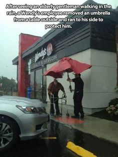 That's why this is my favorite fast food place. Yay humanity!