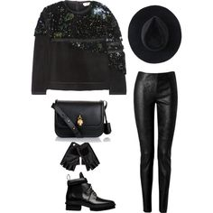 """""""ONLY BLACK"""" by martab on Polyvore"""