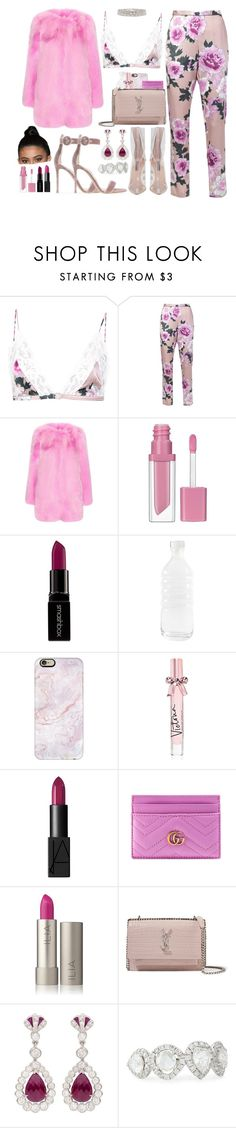"""""""fav."""" by perfectiongod ❤ liked on Polyvore featuring Fleur du Mal, Gucci, Essence, Smashbox, canvas, Casetify, Victoria's Secret, NARS Cosmetics, Yves Saint Laurent and Nigaam"""