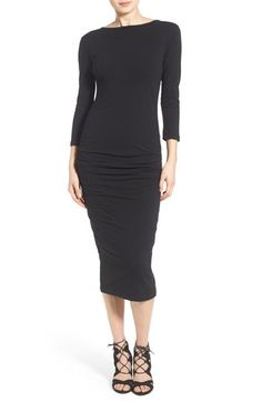 james perse black dress / made in usa