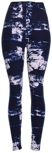 """Blue Tie Dye Leggings - Fitted, tapered leggings that hit between calf and ankle; a great layer piece. - Approximate measurements: 26 3/4"""" (68 cm) inseam, 22 3/4"""" (58 cm) elastic waistband - Machine w"""