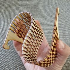 We have an excellent laser cutter at the library if anyone wants to try something like this out! Laser cut Living Hinge