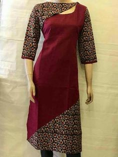 Looking for beautiful neck designs for plain Kurtis/Kurthas ? Here are 20 flattering designs that can add a dash of style to your kurti style. Salwar Neck Designs, Churidar Designs, Kurta Neck Design, Neckline Designs, Dress Neck Designs, Kurta Designs Women, Designs For Dresses, Blouse Designs, Chudi Neck Designs