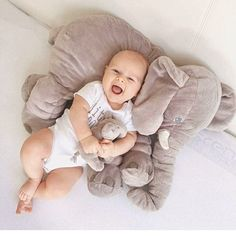 "Get your baby something they will Love? 😍 Big Soft Baby Elephant - ""Loved it! Gave it to my daughter at her baby shower.it was a great hit!"" Grab Yours Today. Baby Pictures, Baby Photos, Family Pictures, Baby Elefant, Foto Baby, Elephant Love, Elephant Baby Bedding, Newborn Baby Photography, Children Photography"