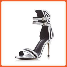 MINIVOG Ankle Strap Women Sandal Shoe Silver 5.5 - Sandals for women (*Amazon Partner-Link)
