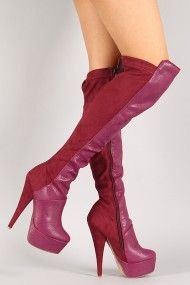 Muneca Round Toe Stiletto Thigh High Boot