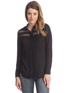 5622384cfe1b Γυναικείο Σιφόν Πουκάμισο Με Κρυφά Κουμπιά COLLEZIONE  women blouse   long sleeve  sheer