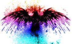 Abstract phoenix bird wallpaper HD.