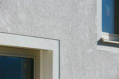 Gallery of Kindergarten, Sports Hall and Music School / Schenker Salvi Weber Architekten - 10 Facade Architecture, School Architecture, Stucco Texture, Window Reveal, Window Detail, Sport Hall, Spanish Style Homes, Music School, Facade Design