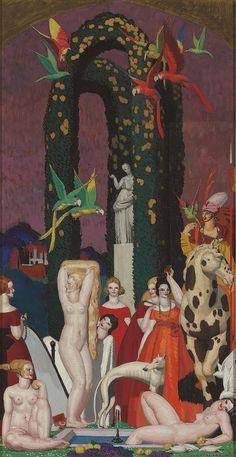 jeannepompadour:   'La Femme à L'Ara' by Jean Dupas, 1921