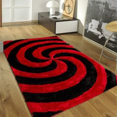 """AllStar Rugs Hand-Tufted Red Area Rug Rug Size: 7'6"""" x 10'5"""""""