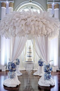 Give your cake a room of its own with a dramatic canopy.