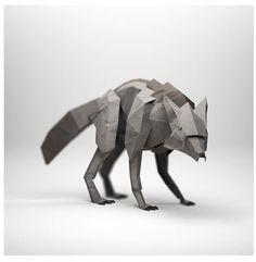Creation • Origami • Wolf by Jeremy Kool •