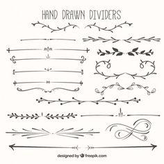Divisores desenhados mão embalar