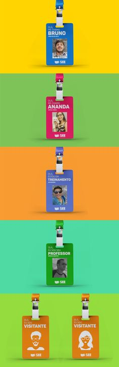Bruno Maneschy on Behance Employees Card, Lanyard Designs, Bullet Journal School, Layout, Name Tags, Lanyards, Badges, Design Art, Digital Marketing