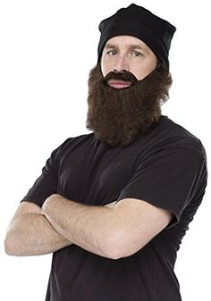 Crazy Quackers Adult Duck Dynasty Costume Accessory Hat Black Beard ** For more information, visit image link.