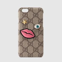 Gucci iPhone 6 case with embroidered face