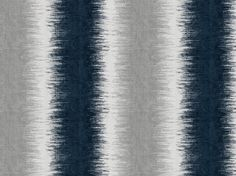 Navy Blue and Grey Chenille Upholstery Fabric by PopDecorFabrics