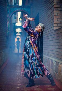 Uzbek girl in traditional costume