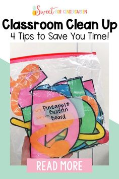 Need some tips and tricks for cleaning up your classroom for the end of the year? Check out these 4 tips to save you time and keep your classroom organized. Click the pin to learn more! Clean Classroom, Kindergarten Classroom, School Classroom, Classroom Ideas, First Year Teachers, New Teachers, Meet The Teacher, Teacher Hacks, Teacher Organization