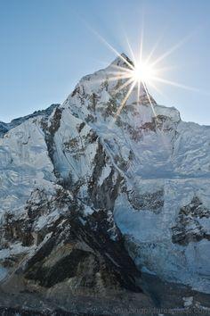 Sun shines on Everest