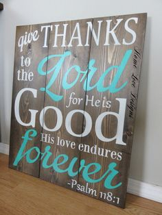 Psalm Bible Verse Planked Wood Sign by HomeLoveDesigns on Etsy