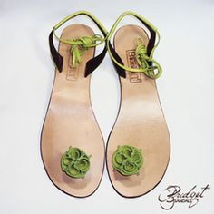 5332c9c60e57 Bridget Sandals of Jamaica Rose - Lime Green Pink Pedicure