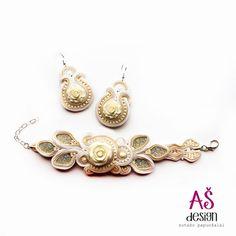 AŠ design Wedding Soutache Jewellery 2015 - earrings and bracelet