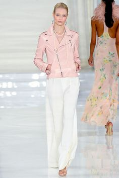 i want the leather jacket Ralph Lauren Spring 2012
