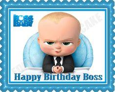 The Boss Baby Edible Birthday Cake Topper