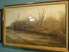 Up From the Brush Original watercolor David Hanna landscape large realism #Realism
