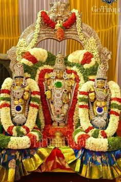 Lord Sri venkateswara with sridevi&bhoodevi.