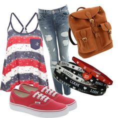 Subtle Directioner, created by christinathowsen on Polyvore
