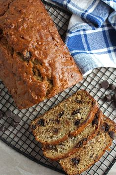BANANA BREAD WITH COCONUT and CHOCOLATE CHIPS