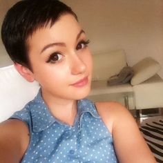 Short Brown Hairstyles For Women Cool Super Short Haircut Girls Short Haircuts, Short Hairstyles For Women, Hairstyle Short, Short Brown Hair, Short Hair Cuts, Pixie Cuts, Buzzed Pixie, Sisterlocks, Scene Hair