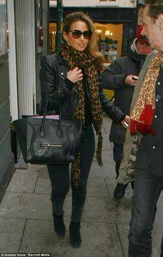 Glamorous: Rachel Stevens looks chic as she leaves her hotel in Nottingham for another nig...