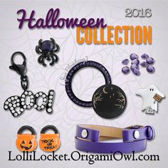 The 2016 Limited Edition Halloween items are now available! I MUST have that purple bracelet wrap! What can I order for you!? 🎃🔮👻   #Halloween #TrickOrTreat #HocusPocus #BOO #Pumpkin #JackOLantern #Ghost #Spider #Purple #LimitedEdition #Swarovski #LocketOfTheDay #LookOfTheDay #Jewelry #Bling #CustomJewelry #CharmAddict #OrigamiOwl #LolliLocket #EveryLocketTellsAStory