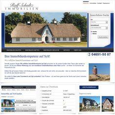 Internetseite Relaunch Ralf Schultz Immobilien Sylt / Leistungen: Konzeption, Webdesign, Technische Umsetzung, Suchmaschinenoptimierung / Techniken: PHP, Zend Framework, Javascript, mootools, XHTML, CSS
